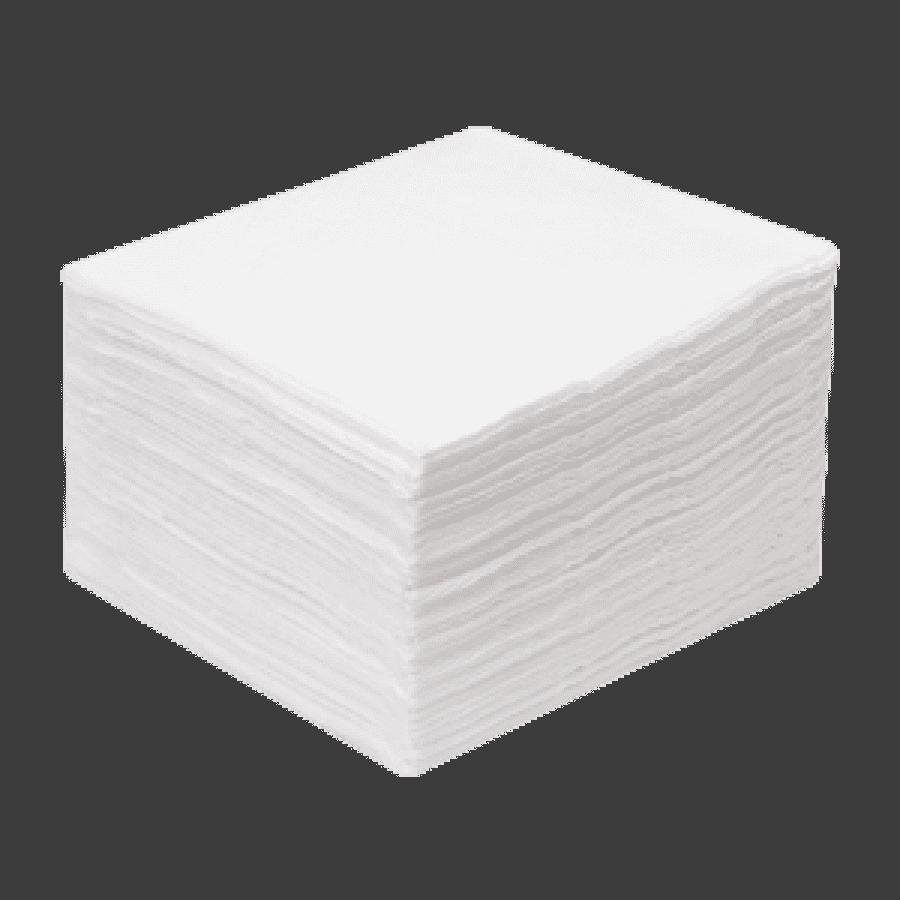 Салфетки спанлейс белые, 20х20 см, 100 шт./уп - изображение