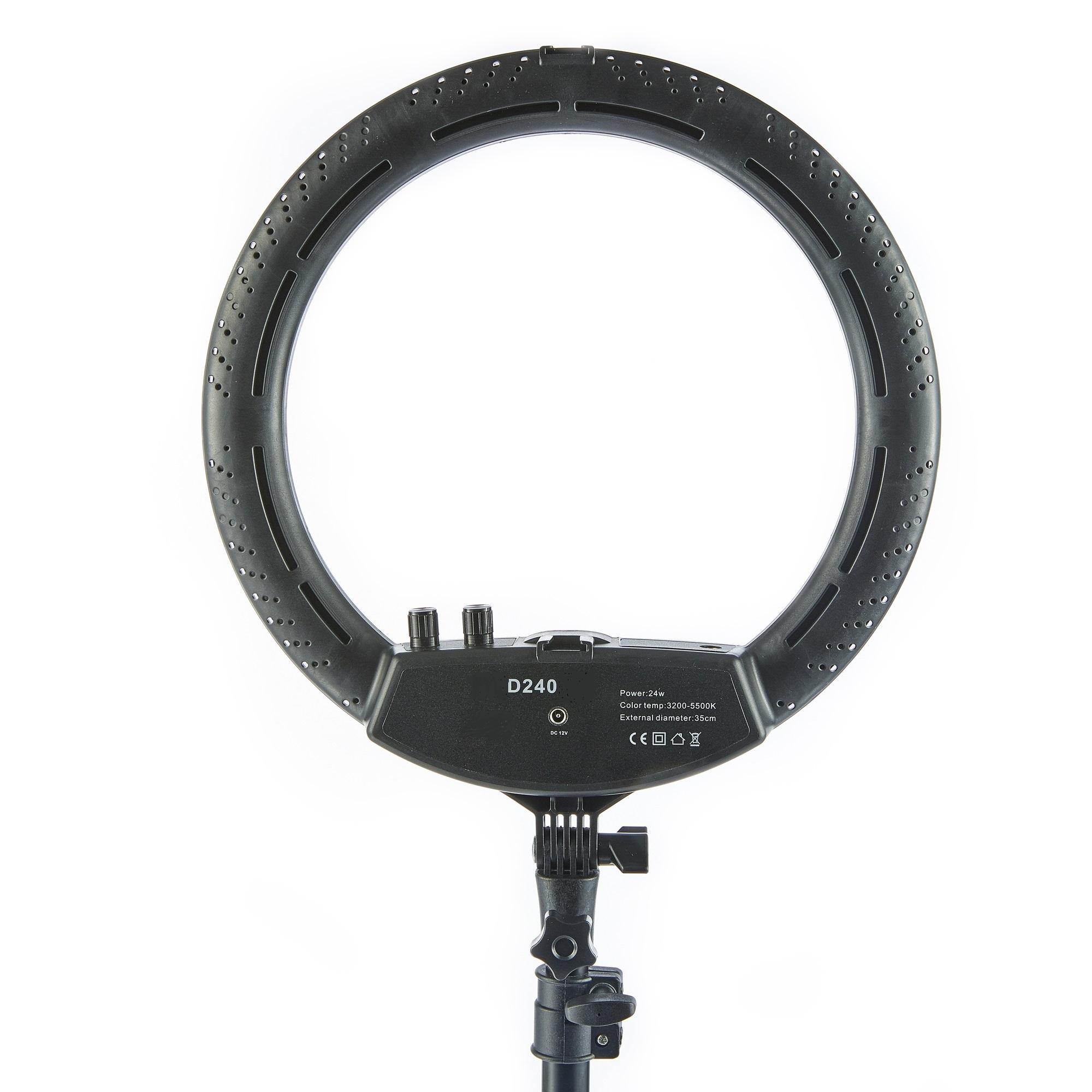 Лампа кольцевая OKIRA LED RING DAR 240 (12 дюймов) - изображение