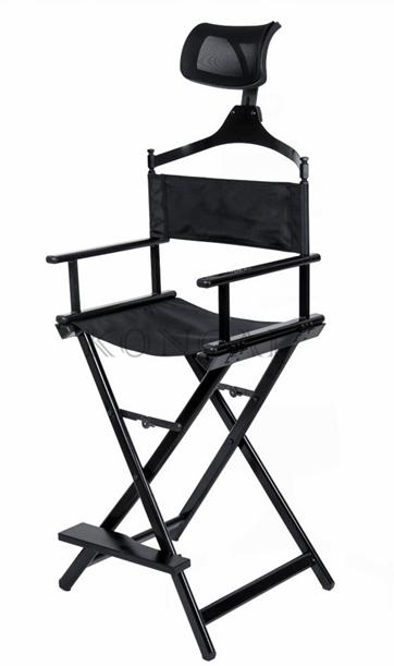 Разборный стул визажиста из алюминия с подголовником КС (уценка) - изображение