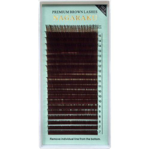 Ресницы коричневые Nagaraku МИКС - изображение