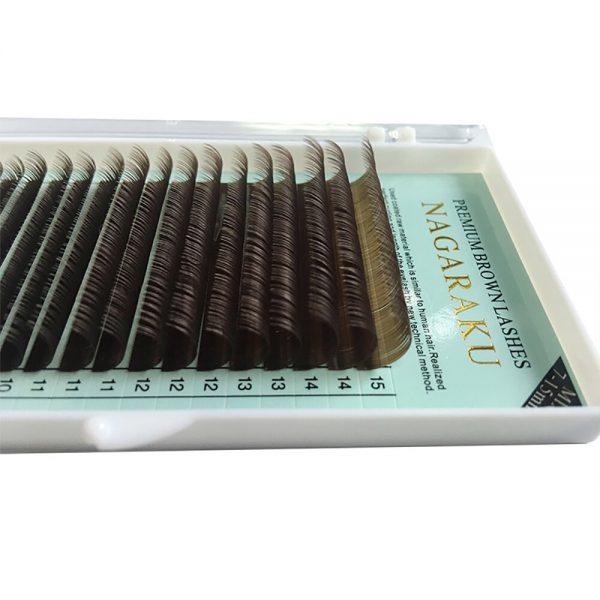 Ресницы коричневые Nagaraku МИКС - изображение 2