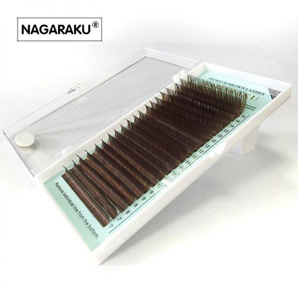 Ресницы коричневые Nagaraku МИКС - изображение 3