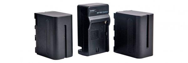 Комплект аккумуляторов для кольцевых ламп NP-F750 - изображение 1