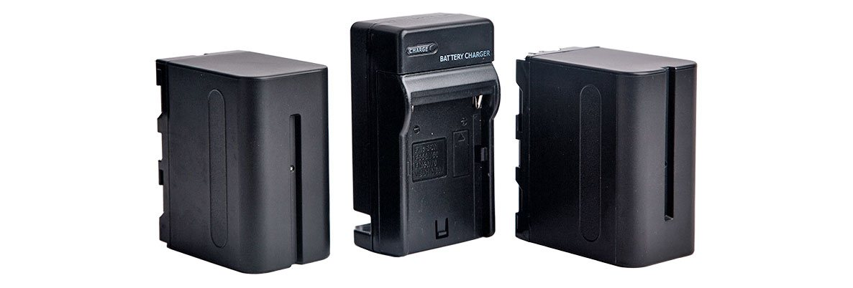 Комплект аккумуляторов для кольцевых ламп NP-F750 - изображение