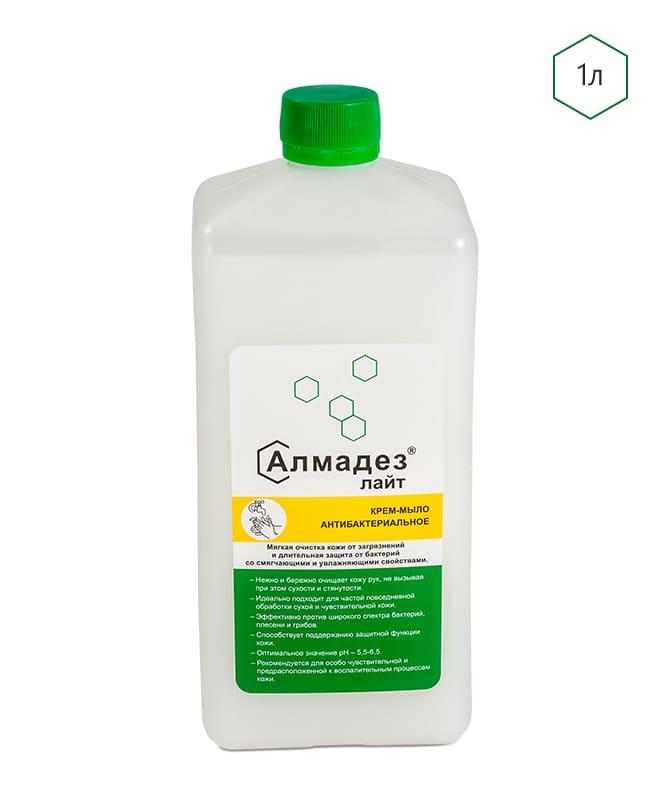 Антибактериальное крем-мыло с пролонгированным эффектом «Алмадез-лайт» Крышка 1 литр - изображение