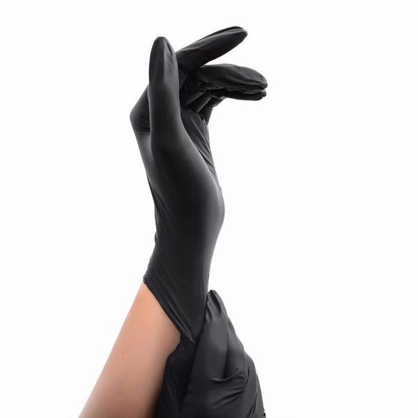 Перчатки одноразовые нитриловые черные (пара) - изображение 4