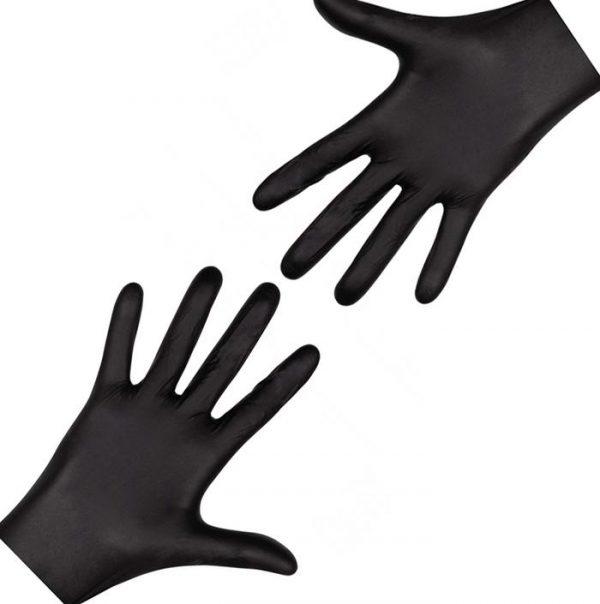 Перчатки одноразовые нитриловые черные (100 шт/уп) - изображение 3