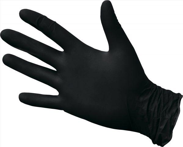 Перчатки одноразовые нитриловые черные (100 шт/уп) - изображение 2