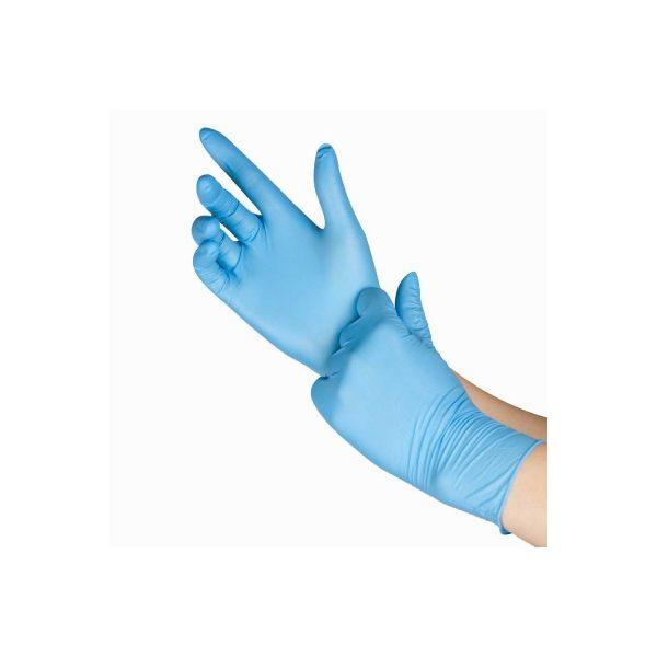 Перчатки одноразовые нитриловые синие (пара) - изображение 3