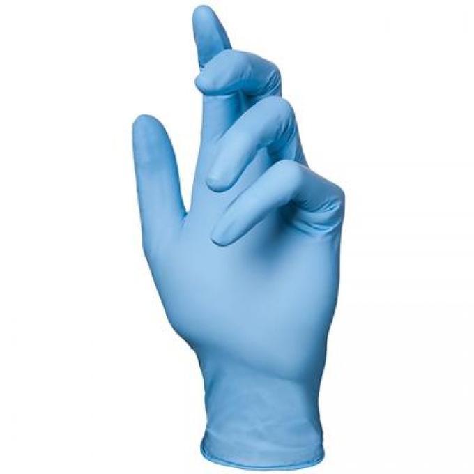 Перчатки одноразовые нитриловые синие (пара) - изображение