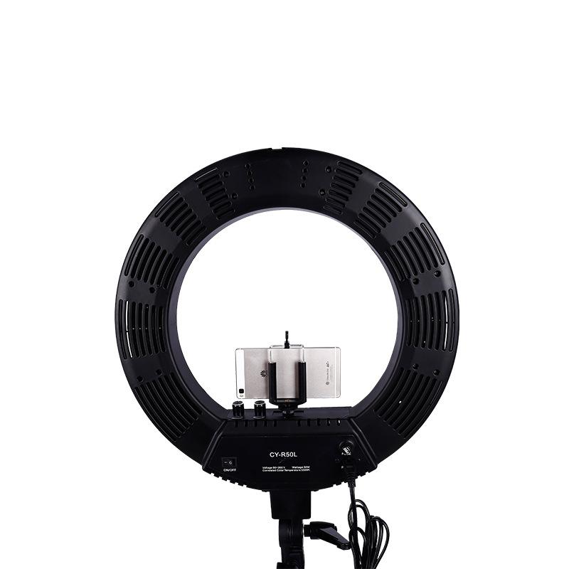 Лампа кольцевая OKIRA LED RING 480 CY 50 черная (уценка) - изображение