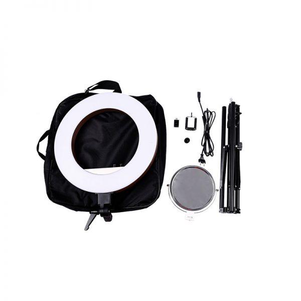 Лампа кольцевая OKIRA LED RING 480 CY 50 розовая (уценка) - изображение 2
