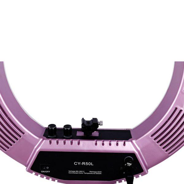 Лампа кольцевая OKIRA LED RING 480 CY 50 розовая (уценка) - изображение 3