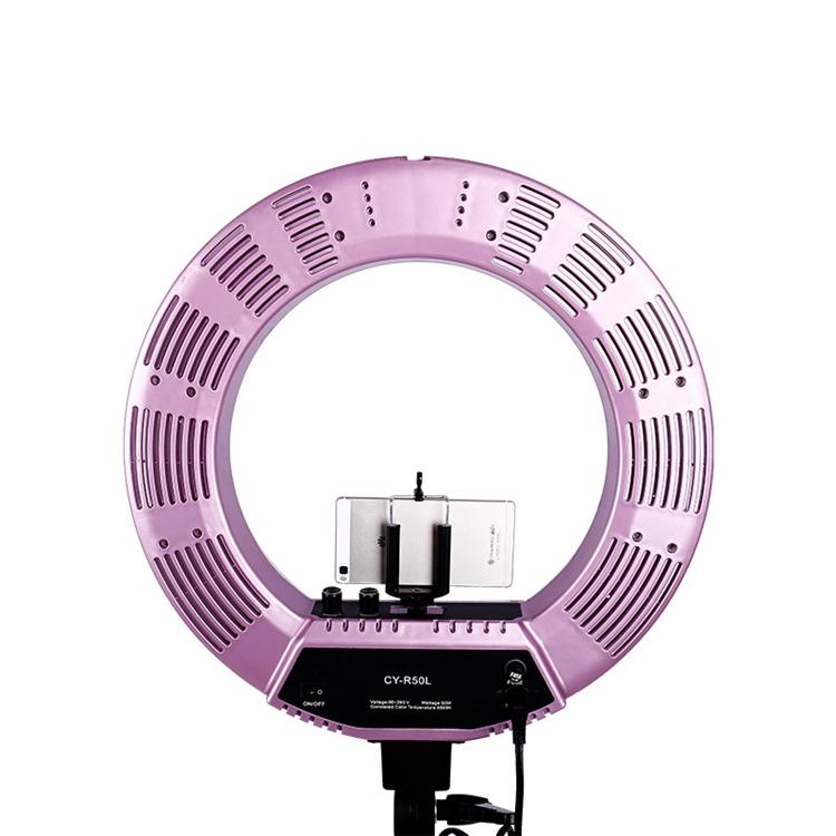 Лампа кольцевая OKIRA LED RING 480 CY 50 розовая (уценка) - изображение