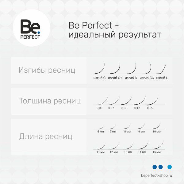 Ресницы чёрные Be Perfect Black MIX 16 линий - изображение 6