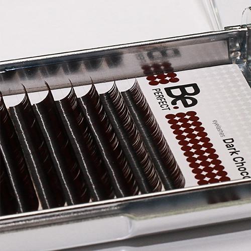Ресницы коричневые Be Perfect Dark Chocolate 16 линий - изображение