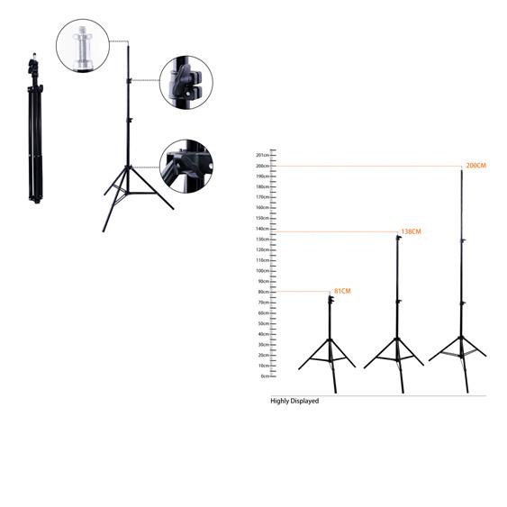 Стойка - штатив для ламп мастеров 2 метра - изображение