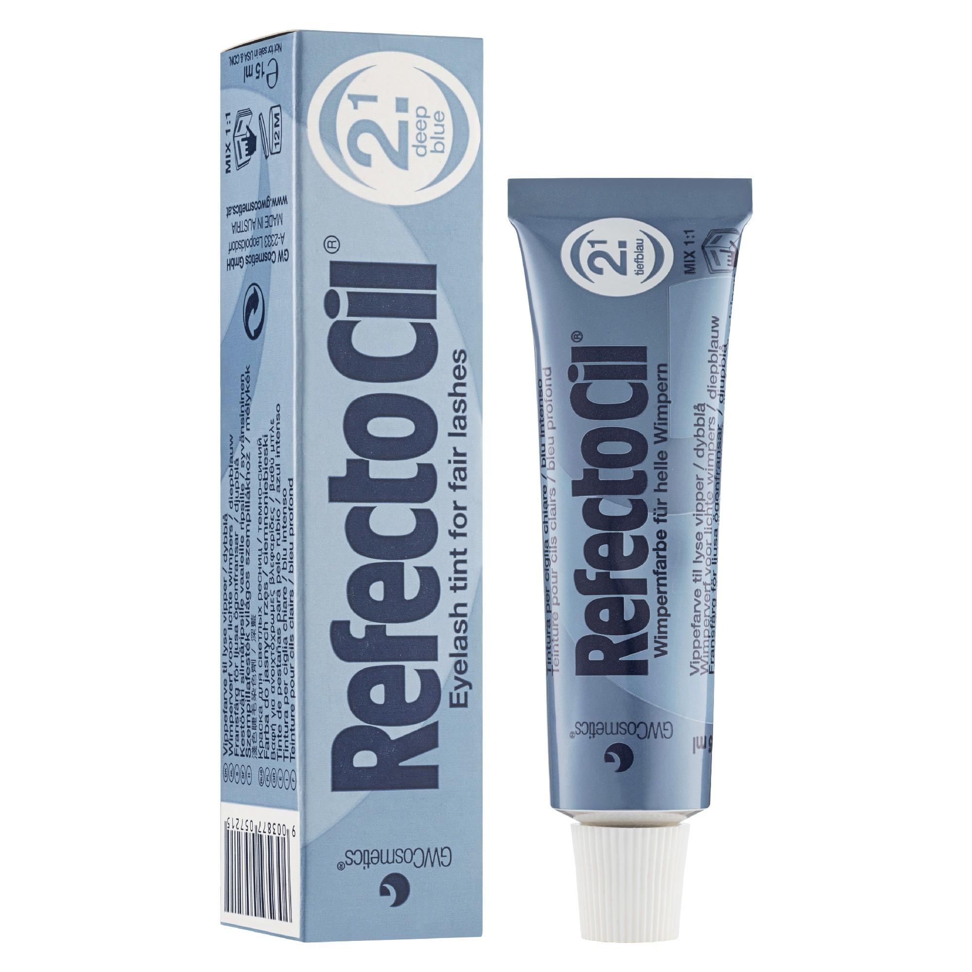 """Краска для бровей и ресниц """"RefectoCil"""" (Темно-синяя) - изображение"""