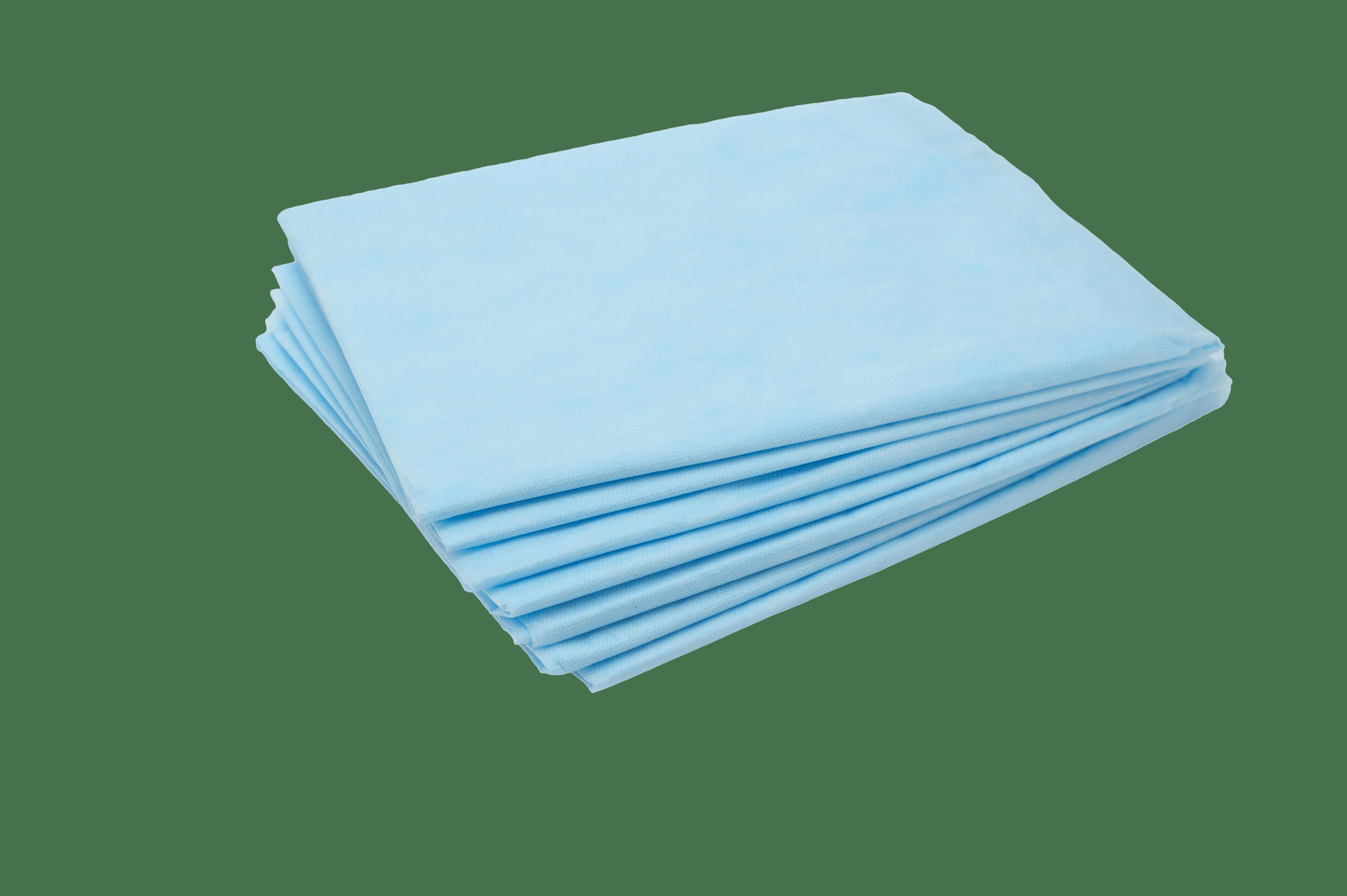 Простыни одноразовые сложенные, синие 200х80см (25шт/уп) - изображение