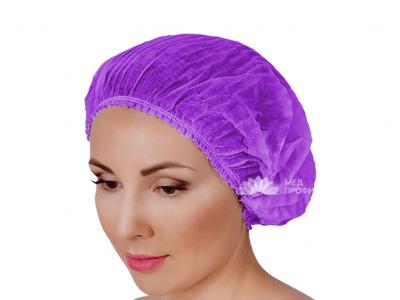 Шапочка одноразовая медицинская Шарлотта фиолетовая, 1 шт. - изображение