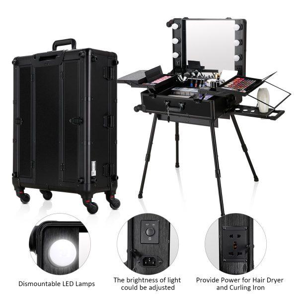Мобильная студия визажиста чёрная LC 003 - изображение 5