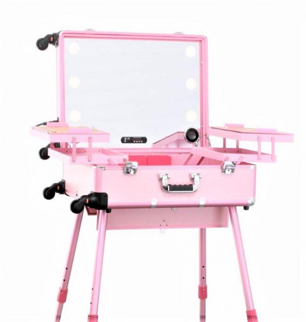 Мобильная студия визажиста розовая Premium LC015 - изображение 2