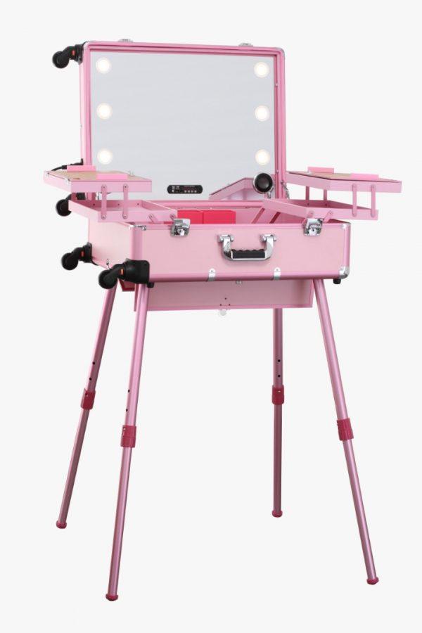 Мобильная студия визажиста розовая Premium LC015 - изображение 1