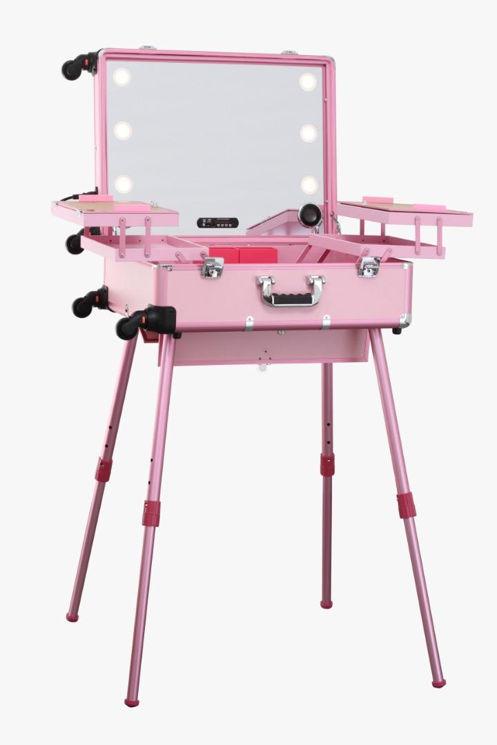 Мобильная студия визажиста розовая Premium LC015 - изображение