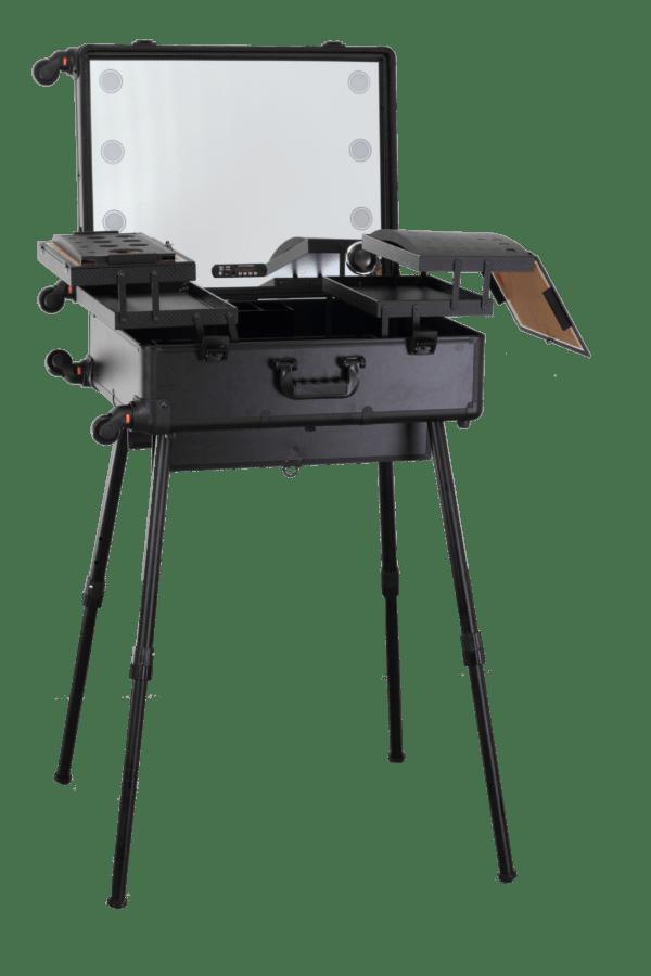 Мобильная студия визажиста чёрная Premium LC015 - изображение