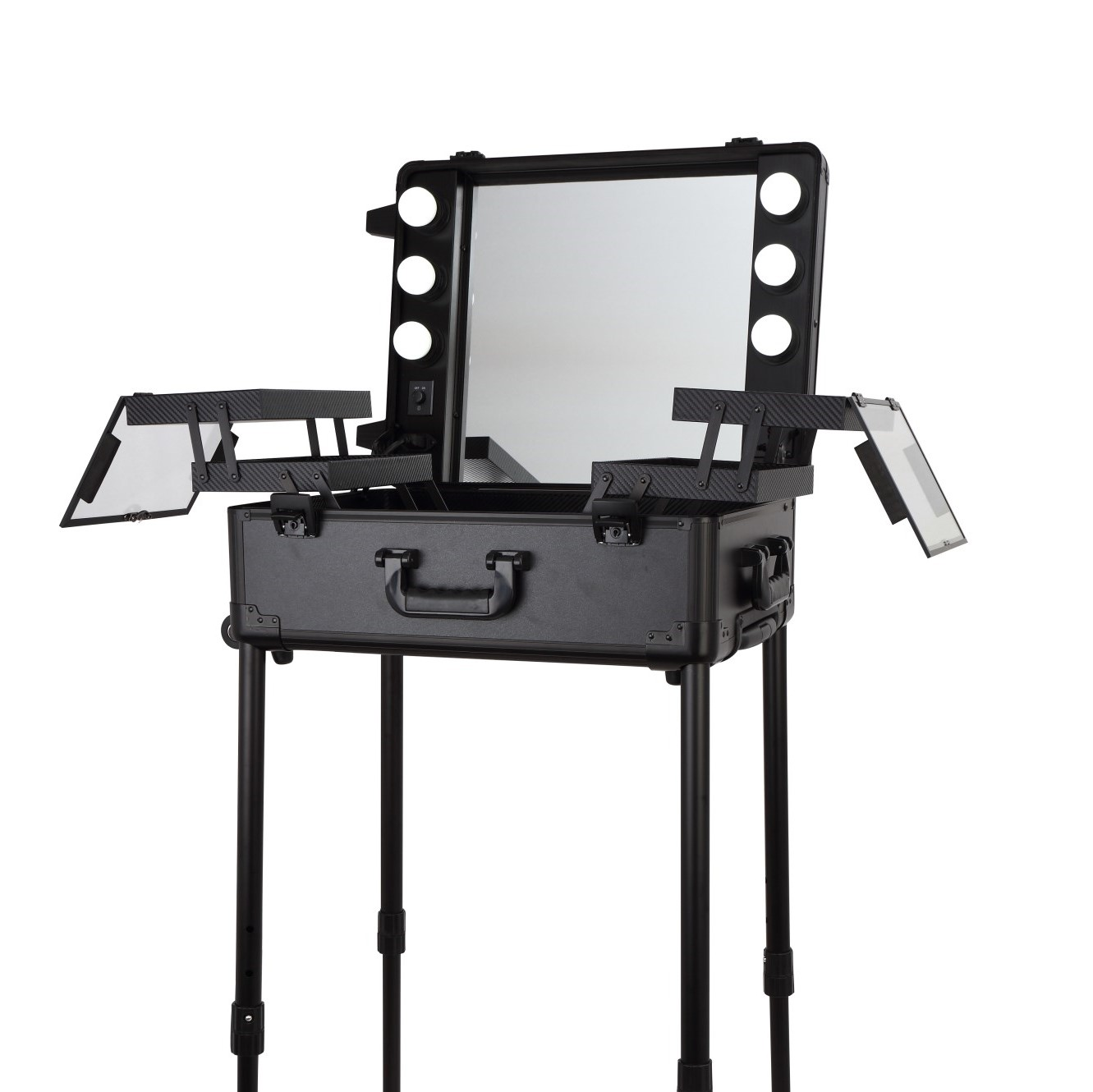 Мобильная студия визажиста чёрная LC 003 - изображение