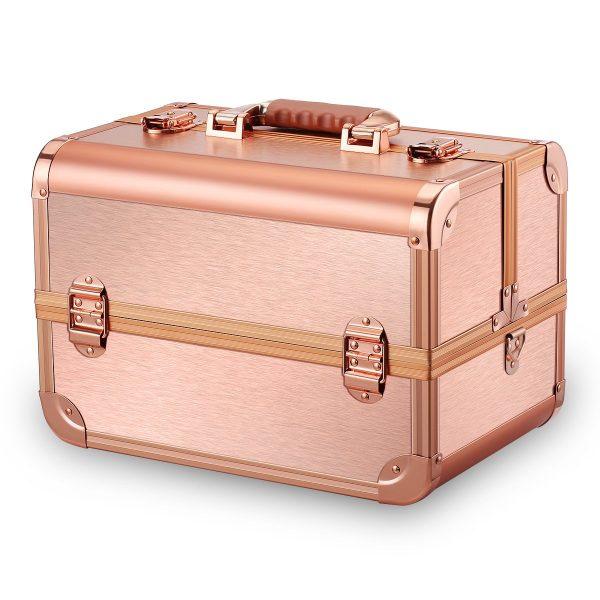 Бьюти кейс для косметики CWB7350 розовое золото - изображение 2
