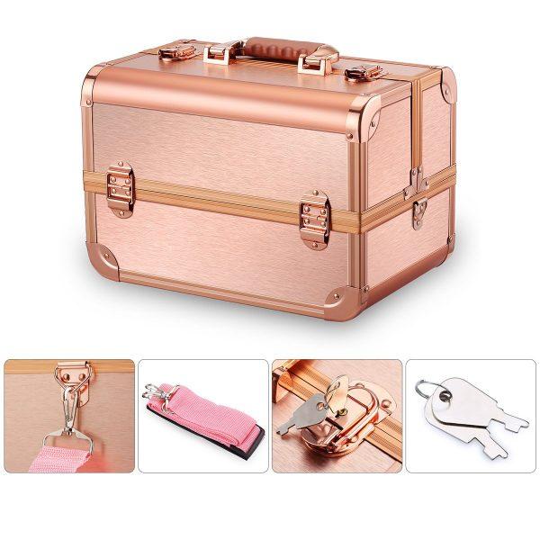 Бьюти кейс для косметики CWB7350 розовое золото - изображение 3