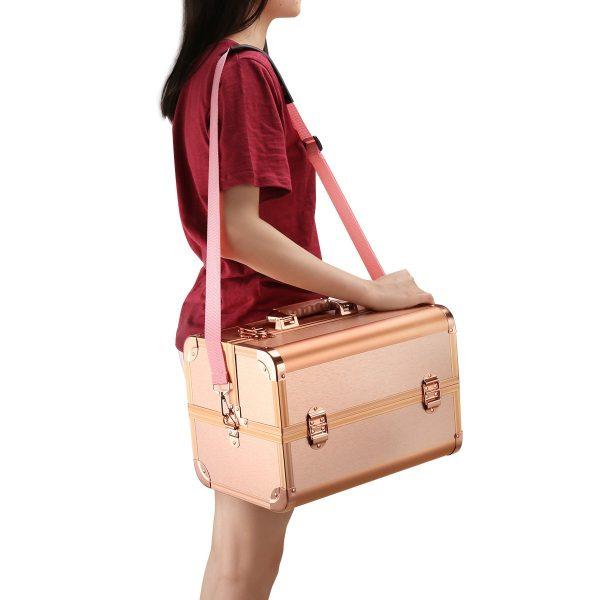 Бьюти кейс для косметики CWB7350 розовое золото - изображение 7