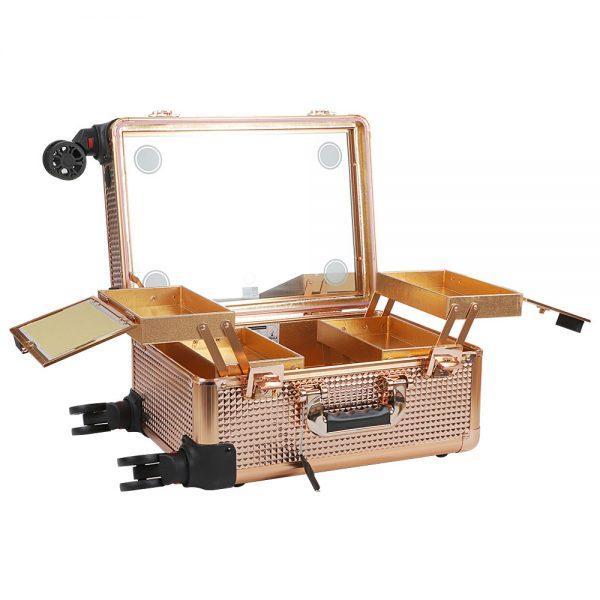 Мобильная студия визажиста золотой бриллиант без ножек LC 7006 - изображение 2