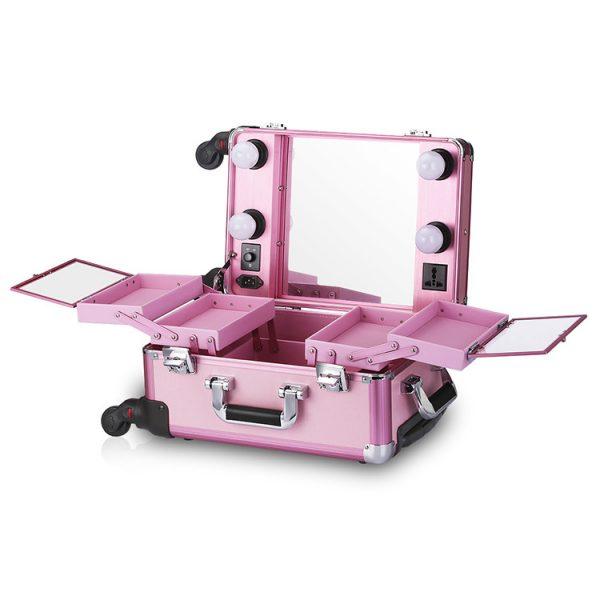 Мобильная студия визажиста розовая без ножек LC 006 - изображение 2