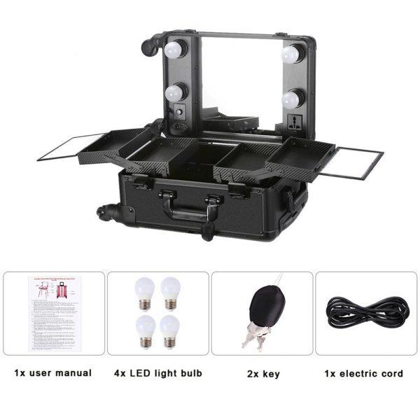 Мобильная студия визажиста чёрная без ножек LC 006 - изображение 3