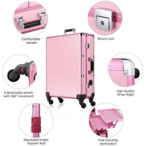 Мобильная студия визажиста розовая LC 004 - изображение 6