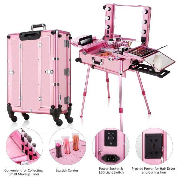 Мобильная студия визажиста розовая LC 004 - изображение 7