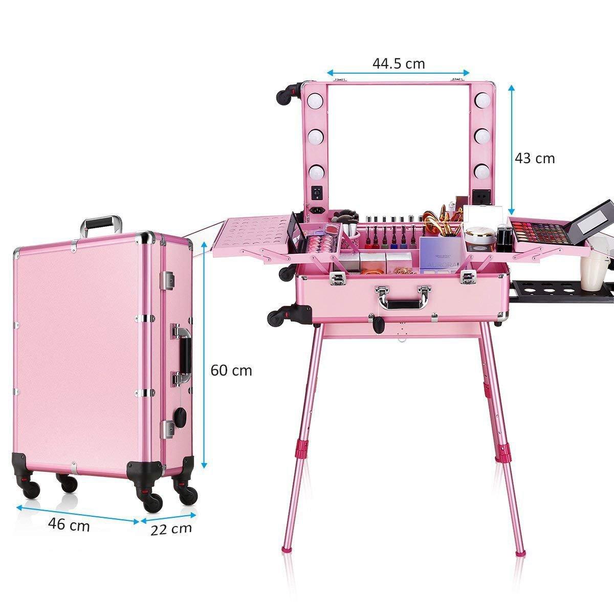 Мобильная студия визажиста розовая LC 004 - изображение