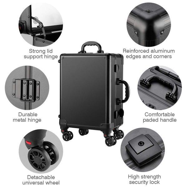 Мобильная студия визажиста чёрная Premium LC031 - изображение 7