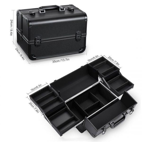 Бьюти кейс для косметики CWB7350 черный - изображение 2