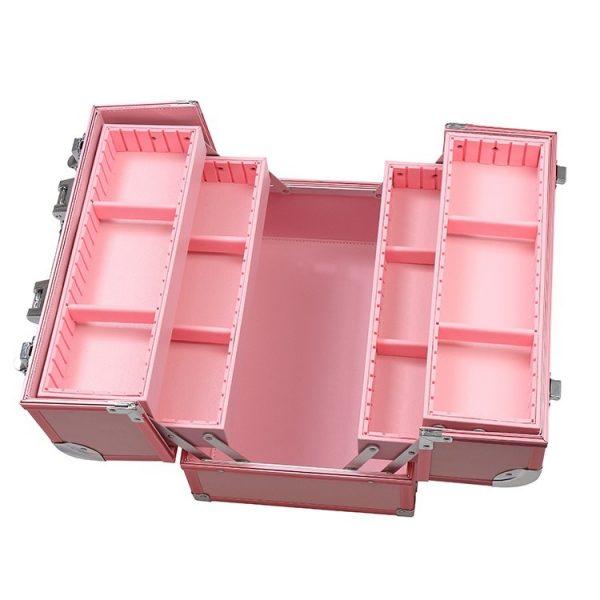 Бьюти кейс для косметики CWB 8340 розовый - изображение 3