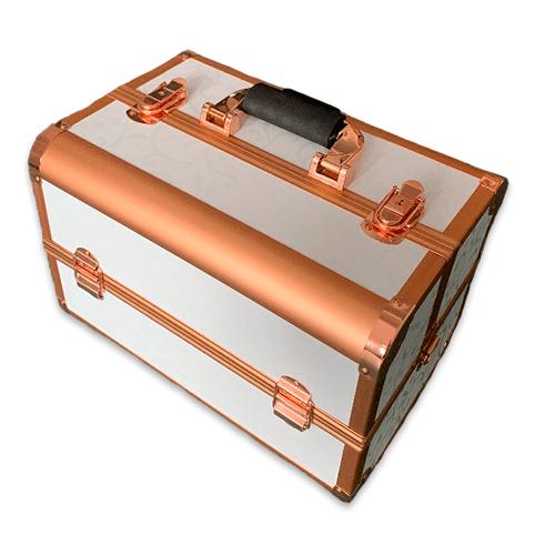 Бьюти кейс для косметики CWB7350 белый с золотом - изображение 2