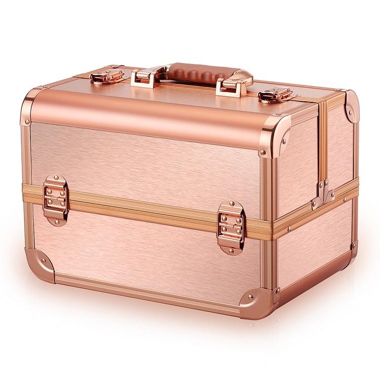 Бьюти кейс для косметики CWB 8340 розовое золото - изображение