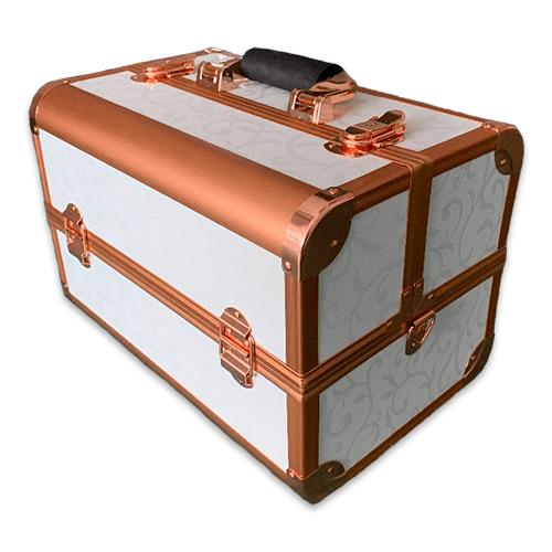 Бьюти кейс для косметики CWB7350 белый с золотом - изображение