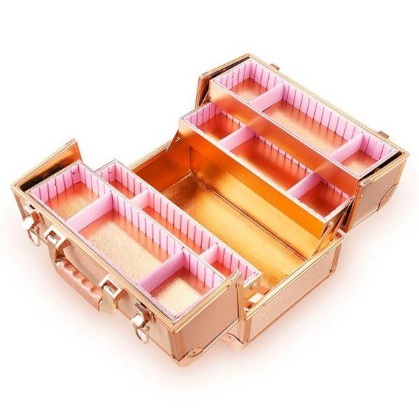 Бьюти кейс для косметики CWB 8340 розовое золото - изображение 3