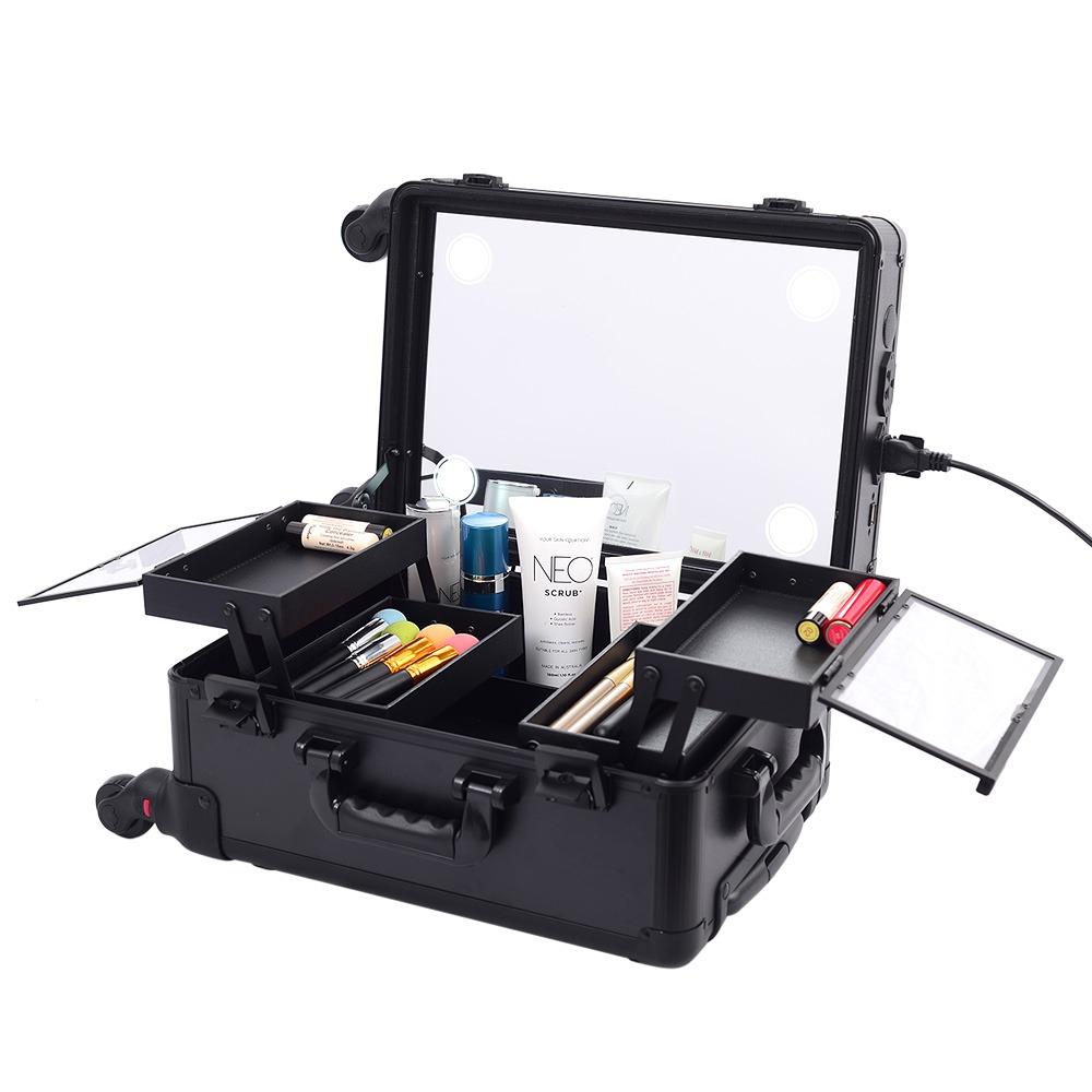 Мобильная студия визажиста черная без ножек LC 7006 - изображение
