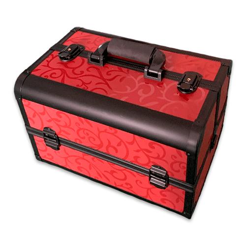 Бьюти кейс для косметики CWB7350 черный с красным - изображение