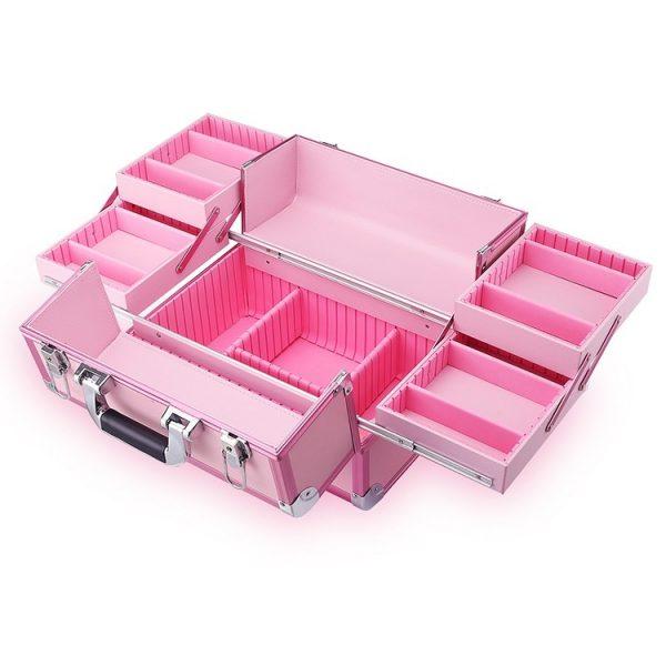 Бьюти кейс для косметики CWB7350 розовый - изображение 3