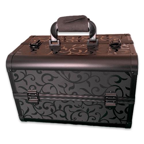 Бьюти кейс для косметики CWB7350 черный с узором - изображение